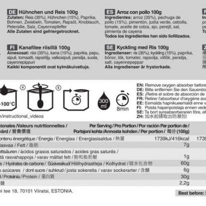 Tactical Foodpack kip met rijst