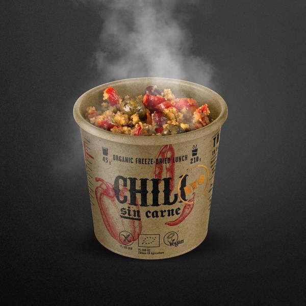 Lyo Food biologische chili sin carne met polenta