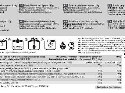 Tactical Foodpack Aardappelpuree met spek