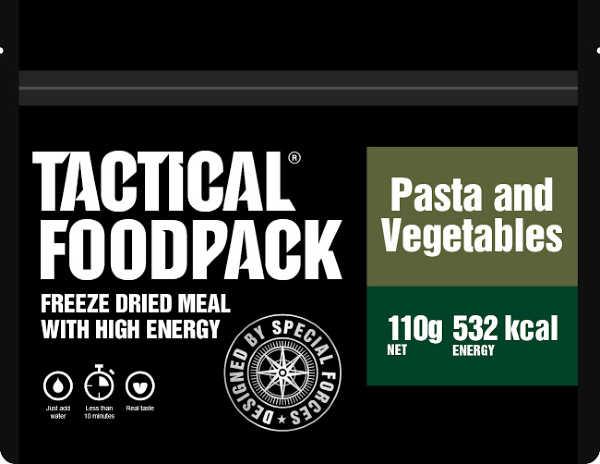 Tactical Foodpack Pasta met groenten