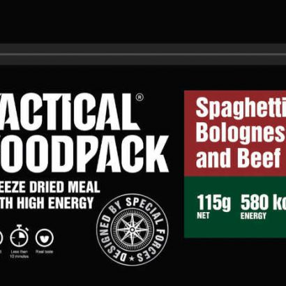 Tactical Foodpack Spaghetti Bolognese met rundvlees