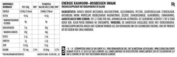 Mountain Berry - Clif Bloks Energy Chews - Clif Bar