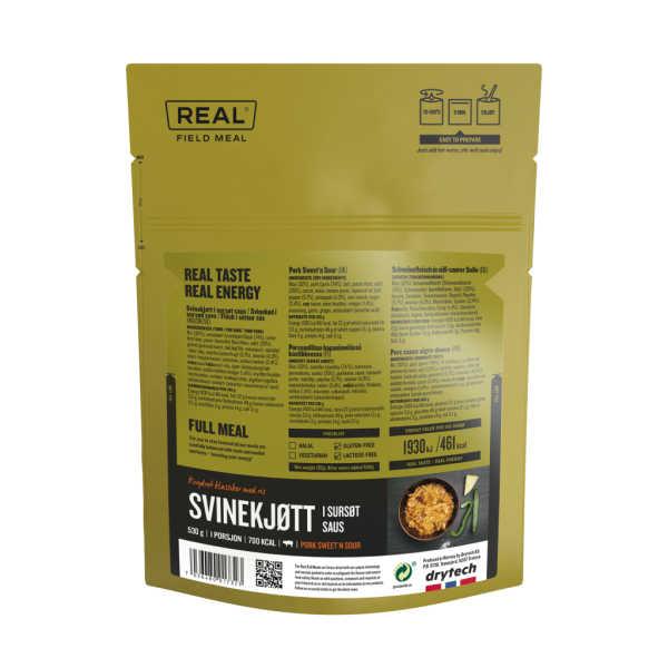 Varkensvlees in zoetzure saus - 701 kcal - Real Field Meal