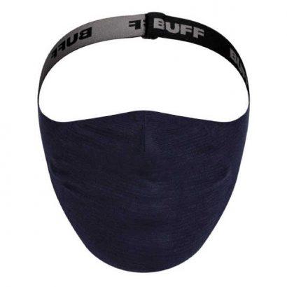 BUFF® Face Mask Solid Night Blue - Mondmasker