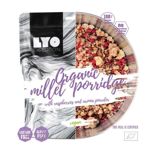 Biologische Gierstpap met Frambozen en Aronia poeder - Lyo Food